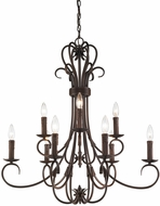 Golden Lighting 8606-CN9-RBZ Homestead Rubbed Bronze Lighting Chandelier