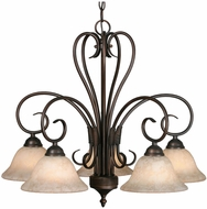 Golden Lighting 8606-D5-RBZ-TEA Homestead Rubbed Bronze Chandelier Light