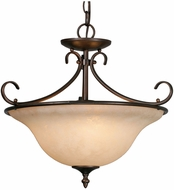 Golden Lighting 8606-SF-RBZ-TEA Homestead Rubbed Bronze Pendant Lamp / Ceiling Lighting Fixture
