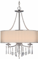 Golden Lighting 8981-3P-BRI Echelon Chrome Drum Hanging Lamp