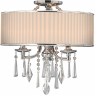 Golden Lighting 8981-SF-BRI Echelon Chrome Flush Mount Light Fixture / Pendant Lighting