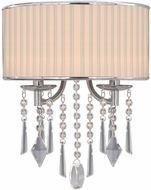 Golden Lighting 8981-WSC-BRI Echelon Chrome Wall Light Sconce