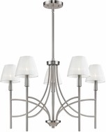 Golden Lighting 9106-5-PW-PCS Taylor Contemporary Pewter Chandelier Lamp