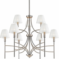Golden Lighting 9106-9-PW-PCS Taylor Contemporary Pewter Ceiling Chandelier