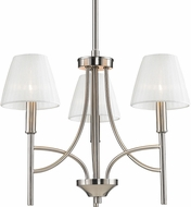 Golden Lighting 9106-M3-PW-PCS Taylor Contemporary Pewter Mini Chandelier Light