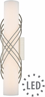 Golden Lighting 9116-B18-PW-OP Juliette Contemporary Pewter LED 18 Bath Wall Sconce
