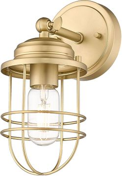 Golden Lighting 9808-1W BCB Seaport Brushed Champagne Bronze Wall Sconce