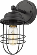 Golden Lighting 9808-1W-BLK Seaport Black Wall Sconce Lighting