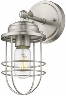 Golden Lighting 9808-1W-PW Seaport Pewter Lighting Sconce