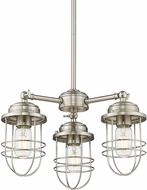 Golden Lighting 9808-3-PW Seaport Pewter Mini Ceiling Chandelier