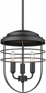 Golden Lighting 9808-3P BLK Seaport Matte Black Hanging Light