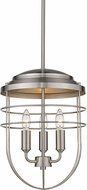 Golden Lighting 9808-3P PW Seaport Pewter Pendant Light Fixture