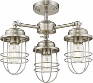 Golden Lighting 9808-3SF-PW Seaport Pewter Ceiling Light Fixture