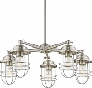 Golden Lighting 9808-5-PW Seaport Pewter Chandelier Light