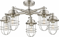 Golden Lighting 9808-5SF-PW Seaport Pewter Ceiling Light Fixture