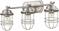 Golden Lighting 9808-BA3-PW Seaport Pewter 3-Light Bathroom Light Fixture