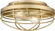 Golden Lighting 9808-FM BCB Seaport Brushed Champagne Bronze Ceiling Light Fixture