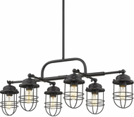 Golden Lighting 9808-LP-BLK Seaport Black Kitchen Island Light Fixture