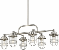 Golden Lighting 9808-LP-PW Seaport Pewter Island Lighting