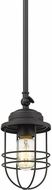 Golden Lighting 9808-M1L-BLK Seaport Black Mini Drop Ceiling Lighting