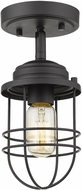 Golden Lighting 9808-SF-BLK Seaport Black Ceiling Lighting