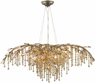 Golden Lighting 9903-12-MG Autumn Twilight Mystic Gold Halogen Chandelier Light