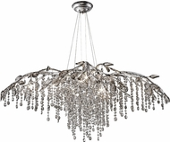 Golden Lighting 9903-12-MSI Autumn Twilight Mystic Silver Halogen Chandelier Lighting