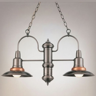 Hi-Lite Manufacturing H-1362-D Harbor Nautical 16  Tall Mini Hanging Chandelier