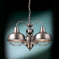 Hi-Lite Manufacturing H-15108-3D-WWGR Palm Bay 20  Wide Mini Chandelier Light