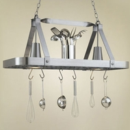Hi-Lite Manufacturing H-52Y-D 15  Tall Pot Rack Island Light Fixture