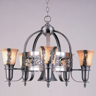 Hi-Lite Manufacturing H-5Y-D-WHT-ODY Odysee 27  Wide Ceiling Chandelier