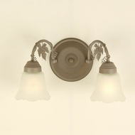Hi-Lite Manufacturing H-8162-B Traditional 12  Wide 2-Light Bathroom Vanity Light