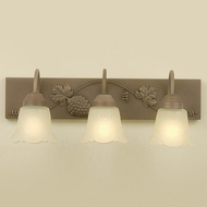 Hi-Lite Manufacturing H-8163-B Traditional 8  Tall 3-Light Bathroom Sconce