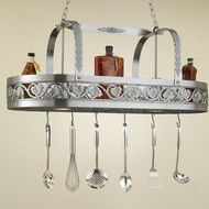 Hi-Lite Manufacturing H-82Y-D Sandra Lee 20  Wide Pot Rack Island Light Fixture