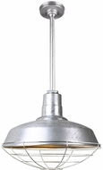 Hi-Lite Manufacturing H-QSN15114-SA-96-QSN24-ST3-96-QSNHSC-96-QSNWGR-14-96 Warehouse Vintage Galvanized Indoor / Outdoor 14  Hanging Pendant Lighting