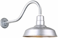 Hi-Lite Manufacturing H-QSN15114-SA-96-QSNHL-A-96 Warehouse RLM Vintage Galvanized Outdoor 14 Wall Lighting Sconce