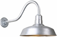 Hi-Lite Manufacturing H-QSN15116-SA-96-QSNHL-A-96 Warehouse RLM Vintage Galvanized Outdoor 16 Lighting Wall Sconce