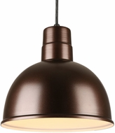 Hi-Lite Manufacturing H-QSN16112-C-145 Deep Bowl Shade Retro Oil Rubbed Bronze 12  Hanging Light