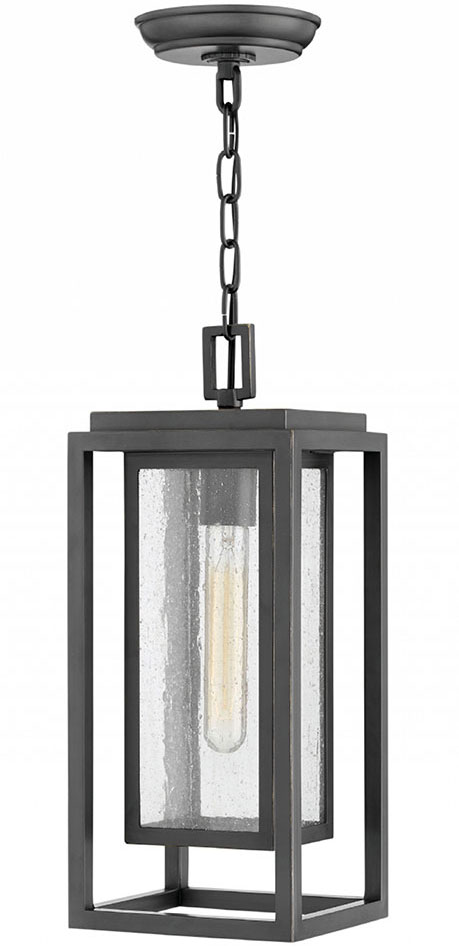 Hinkley 1002oz Republic Contemporary Oil Rubbed Bronze Outdoor Pendant Lighting Loading Zoom