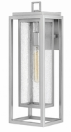 Hinkley 1005SI Republic Modern Satin Nickel Exterior Large Lighting Sconce