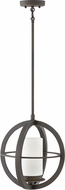 Hinkley 1012OZ Compass Contemporary Oil Rubbed Bronze Outdoor Pendant Lighting