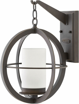 Hinkley 1014OZ Compass Modern Oil Rubbed Bronze Exterior Wall Lamp