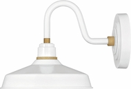 Hinkley 10231GW Foundry Modern Gloss White / Brass Exterior Wall Sconce