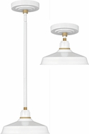 Hinkley 10281GW Foundry Contemporary Gloss White / Brass Outdoor Pendant Lighting / Ceiling Lighting