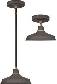 Hinkley 10281MR Foundry Modern Museum Bronze / Brass Exterior Pendant Light / Ceiling Light