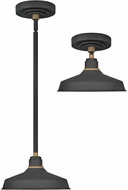 Hinkley 10281TK Foundry Contemporary Textured Black / Brass Outdoor Lighting Pendant / Ceiling Light Fixture