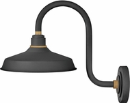 Hinkley 10362TK Foundry Modern Textured Black / Brass Exterior Wall Sconce