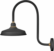 Hinkley 10372TK Foundry Contemporary Textured Black / Brass Outdoor Sconce Lighting
