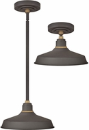 Hinkley 10382MR Foundry Contemporary Museum Bronze / Brass Outdoor Hanging Lamp / Ceiling Light Fixture