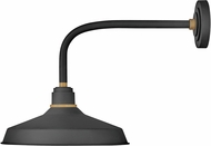 Hinkley 10413TK Foundry Contemporary Textured Black / Brass Outdoor Lamp Sconce